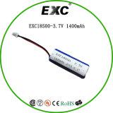 Lithium 18500 1400mAh Batterie nachladbar