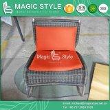 Мебель патио Wicker напольной таблицы Viro стула ротанга отдыха стула нержавеющей стали самомоднейшая