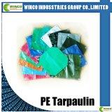 Bâches de protection de PE, revêtement imperméable à l'eau de tissu, PE UV Tarps de résistance