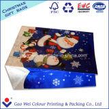 Мешок подарка бумаги Kraft напечатанный бумажный для с Рождеством Христовым