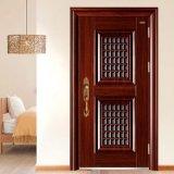 Type de portes de garantie et porte en bois en acier de finissage extérieur de finition