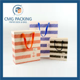 Bolsa de papel que hace compras impresa aduana para OEM (DM-GPBB-090)