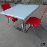 Tabelle calde del POT del ristorante di superficie solido acrilico bianco quadrato