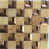 Gris Piedra Natural Acero inoxidable mosaico Mezclado de revestimiento de la pared (FYSM104)