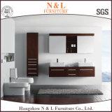 Cabina de cuarto de baño de madera sólida moderna europea de la vanidad del servicio