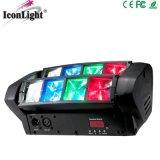 свет спайдера СИД 8X3w RGBW миниый малый Moving головной