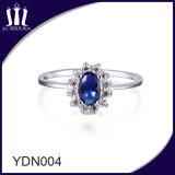 Серебряное Bridal обручальное кольцо сапфира 925