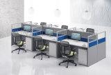 Hölzerne Büro-Möbel 6 Sitze L Form-Büro-Partition-Arbeitsplatz (SZ-WST649)