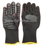 Guante anti del trabajo del taladro de potencia de los guantes del mecánico del impacto