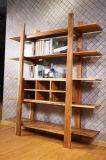 Estante de madera de la nuez del estilo de la vendimia para el hogar o la oficina (CG-005)