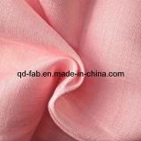 Tecido em linhagem com tiras de linho - Cor rosa (QF13-0759)