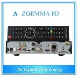 Hevc/H. 265 la CPU de gran alcance Zgemma H5 de los sintonizadores gemelos híbridos de DVB-S2+T2/C se dobla receptor basado en los satélites del linux FTA de la base