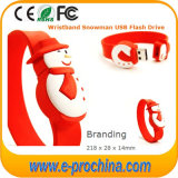 Popular personalizado Santa Claus PVC USB Flash Drive