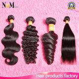高品質のモンゴルの毛ボディ波か深い波または巻き毛はまたは緩くまたはまっすぐなモンゴルのバージンの毛振る