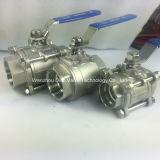 Tipo pesado de acero al carbono 3 Válvula de bola con encajes de soldadura Piezas
