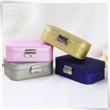 Восхитительная коробка ювелирных изделий бархата PU кожаный