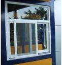 Guichet en aluminium de tissu pour rideaux d'interruption thermique enduite populaire de poudre
