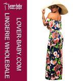 を離れて肩のLong Dress (L51326)セクシーな花の女性