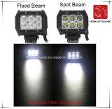 도로 빛과 LED 모는 빛 떨어져 SUV 차 LED를 위해 방수 4inch 18W 크리 사람 LED 표시등 막대의 LED 차 빛