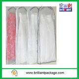 Tampas do vestido de casamento dos sacos de vestuários com saco do punho
