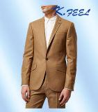 2016の最も新しいデザイン最上質のラクダ細い適合のコートの動悸の人のスーツ