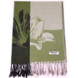 Женский способ Pashmina шарфа цветка зимы с жаккардом