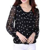 Рубашки женщины Femme Chemise способа втулки O-Шеи длинние