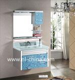 زرقاء قطيرة أسلوب خزفيّة حوض [ستينلسّ ستيل] غرفة حمّام تفاهة خزانة