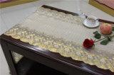 50cm*20m Gold-Belüftung-Vinyllange Spitzedoily-Häkelarbeit-Tischdecke in der Rolle (JFBD019)