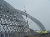 120mのスパンスマートなデザイン鉄骨構造スペーストラス倉庫の建物
