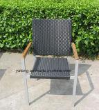 O restaurante de alumínio da mobília do PE-Rattan Uv-Resistente ao ar livre barato da alta qualidade do preço ajustou-se por Cadeira e por tabela (YT003)