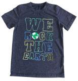 3D綿の品質Sqt-614と着ている子供の洗浄の赤ん坊の子供のTシャツ