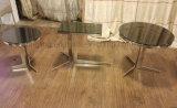 Koffietafel van het Eind van de Thee van het roestvrij staal de Zij met de Bovenkant van het Glas