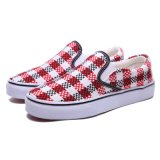 Nuovo Design Red/White Woven Style Shoe con Vulcanized Rubber Sole