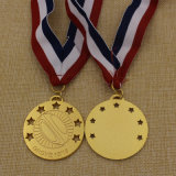 Medalla modificada para requisitos particulares fuente 2016 del rugbi del oro del metal de la fábrica