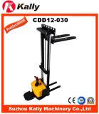 1.2ton容量の狭い足の電気スタッカー(CDD12-030)