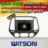 Carro DVD GPS do Android 5.1 de Witson para Hyundai I20 2012 com sustentação do Internet DVR da ROM WiFi 3G do chipset 1080P 16g (A5569)