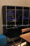 現代黒い木製のガラスドアの飾り戸棚(SM-D37)