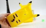 Caja suave Pikachu del silicón de la historieta para la caja del teléfono del iPhone 7 7plus Huawei P9 P8 LG K10 (XSDW-022)