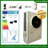 Monobloc Auto-Degelar calefator de água do Heatpump de Evi do assoalho do inverno/da fonte de ar do quarto +Dhw 55c 19kw/35kw/70kw R407c aquecimento do radiador o melhor