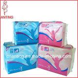 Guardanapo sanitário descartável voado, almofadas sanitárias confortáveis, guardanapo sanitário respirável
