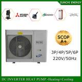 Riscaldatore di acqua della pompa termica dell'invertitore di CC della sala 12kw/19kw/35kw Evi del tester del riscaldamento 100~500sq del radiatore del pavimento di zona di inverno di Netherland -25c