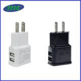 EUのプラグのための携帯用ユニバーサル充電器5V1a 5V2a
