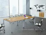 Tabela de reunião de vidro de vidro retangular pequena da tabela de conferência da mobília de escritório (HF-LB17)