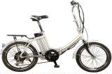 Bicicleta Pocket eléctrica vendedora caliente 2016 con el portador trasero