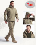 Mann-im Freienjagd-kampierende wasserdichte Hosentan-Farbe, die Hose wandert
