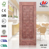 Flat Red Sapelli Natural Mold HDF Flush Door Skin