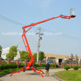 Rimorchio-Mounted Articulating Boom Lift, Diesel o Electric Boom Lift di 16m