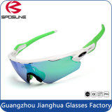 Out Door Beach and Fishing Usage et Designer Neon Green Frame Sun Glasses UV 400 Sports Lunettes de soleil