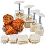 4 modelos ajustan la pasta de azúcar Sugarcraft de la torta de luna que adorna el molde de las galletas